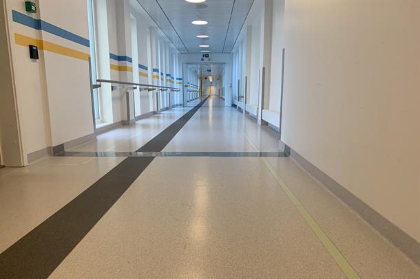 Sykehuset Østfold korridor